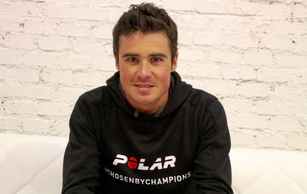 Javier Gómez Noya, durante una entrevista con MARCA