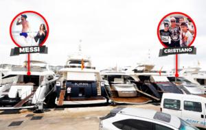 Los yates de Messi y Cristiano, atracados en Ibiza
