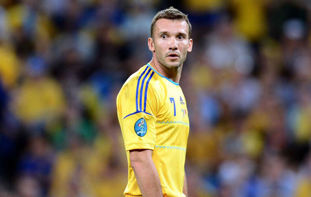Shevchenko, con la selección de Ucrania.