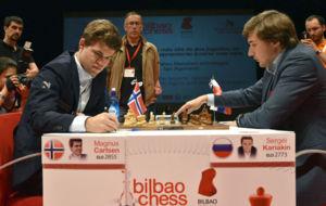 Carlsen contra kariakin en el torneo de Bilbao
