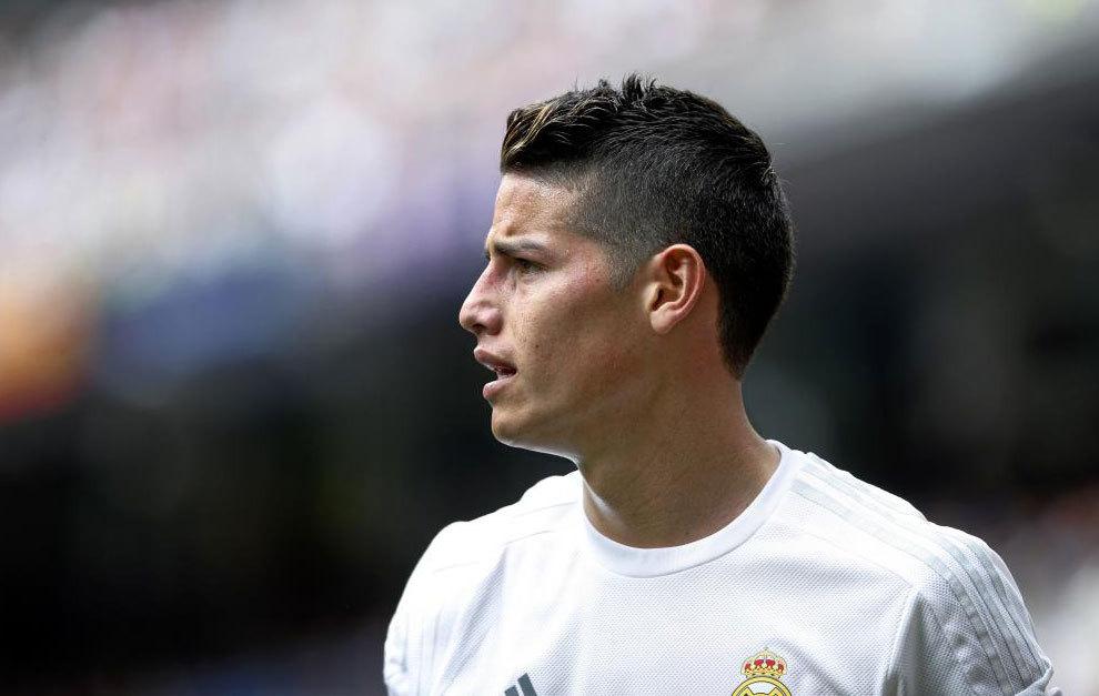 James, durante un partido del Real Madrid.