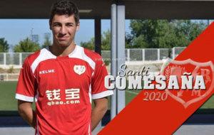 Santi Comesa�a posa para los medios del club en la Ciudad Deportiva