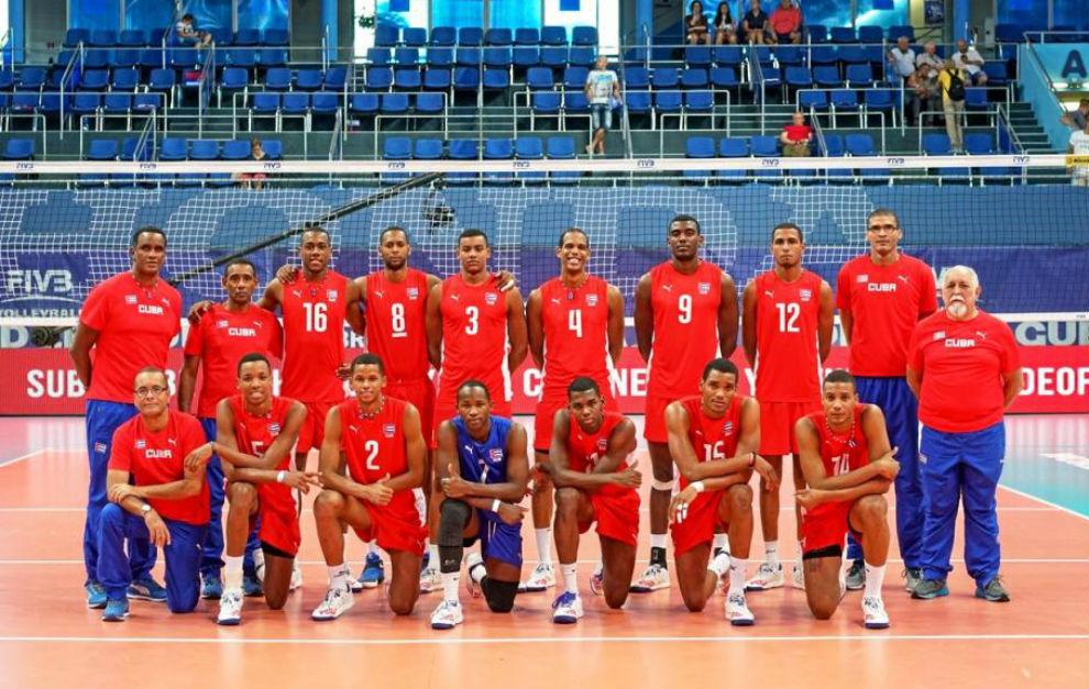 Selección cubana de voleibol en su participación en la Liga Mundial
