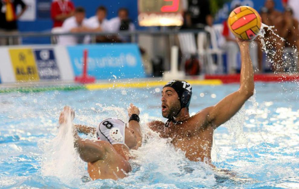 Xavier García, con  la selección española