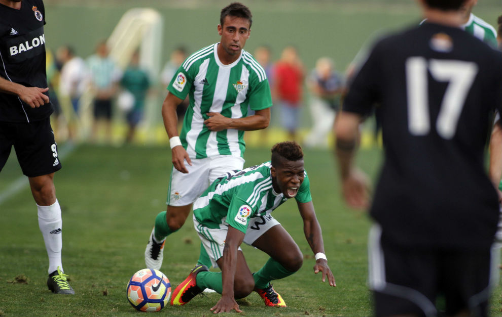 Rafa Navarro y Musonda, en el partido frente a la Balona