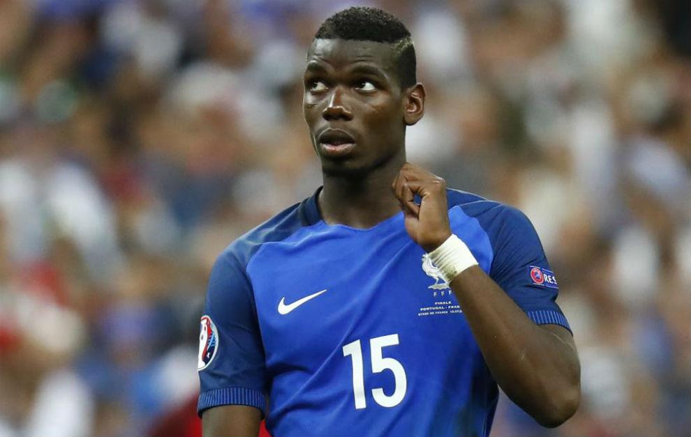 Pogba con la selección francesa en la Eurocopa