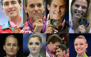 Las grandes estrellas del deporte ruso
