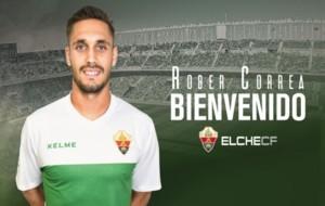 Imagen de la web del Elche, donde da la bienvenida al futbolista.