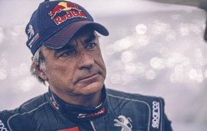 Carlos Sainz, en el transcurso del Dakar 2016