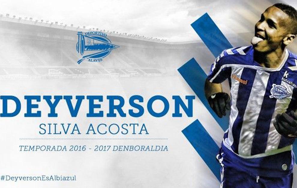 Deyverson llega al Alavés para liderar el ataque albiazul. /