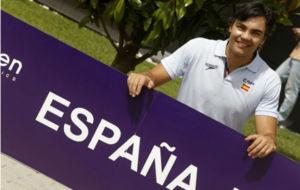El seleccionador masculino, Gabi Hernández, en la presentación del...