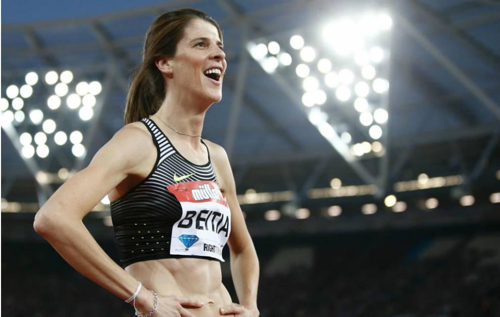 Ruth Beitia, tras finalizar la prueba.