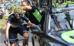 Alejandro Valverde en su participación en el Tour de Francia