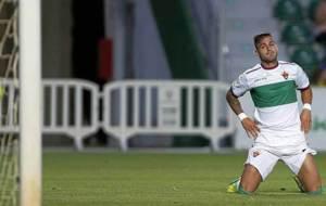Sergio Le�n, durante un partido en el Mart�nez Valero