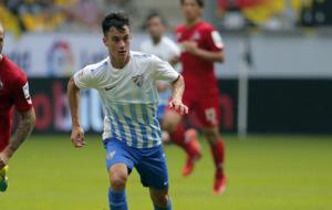 Juanpi, durante el amistoso entre el M�laga y el FC K�ln