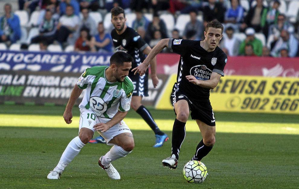 Andone en un partido con el Córdoba ante el Deportivo