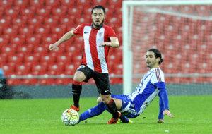 Unai L�pez durante un partido con el Bilbao Athletic