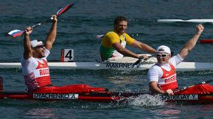 Yury Postrigay y Alexander Dyachenko, en los Juegos de Londres.