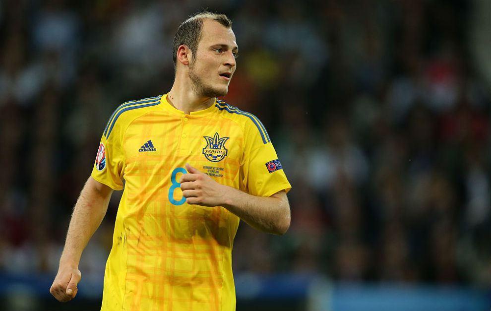 Zozulya, con la camiseta de la selección ucraniana.
