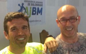Samuel Trives y Fernando Bolea, en el Campus de la AJBM.