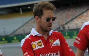 Sebastian Vettel en el circuito de Hockenheim Ring.