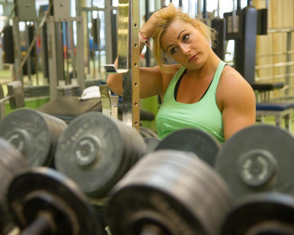 Lydia Valentín, en un día de entrenamiento
