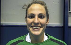 María de los Ángeles Ruiz portera de la Selección de Hockey