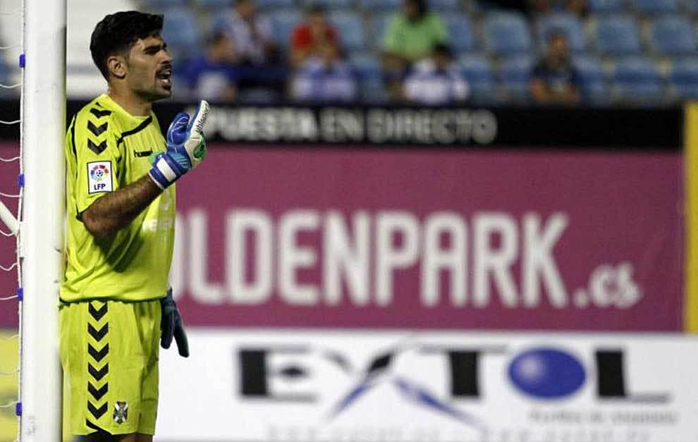 Roberto, durante un partido del Tenerife la pasada temporada
