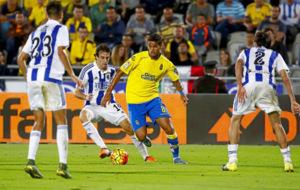 William Jos� durante el partido de Liga entre Las Palmas y la Real...