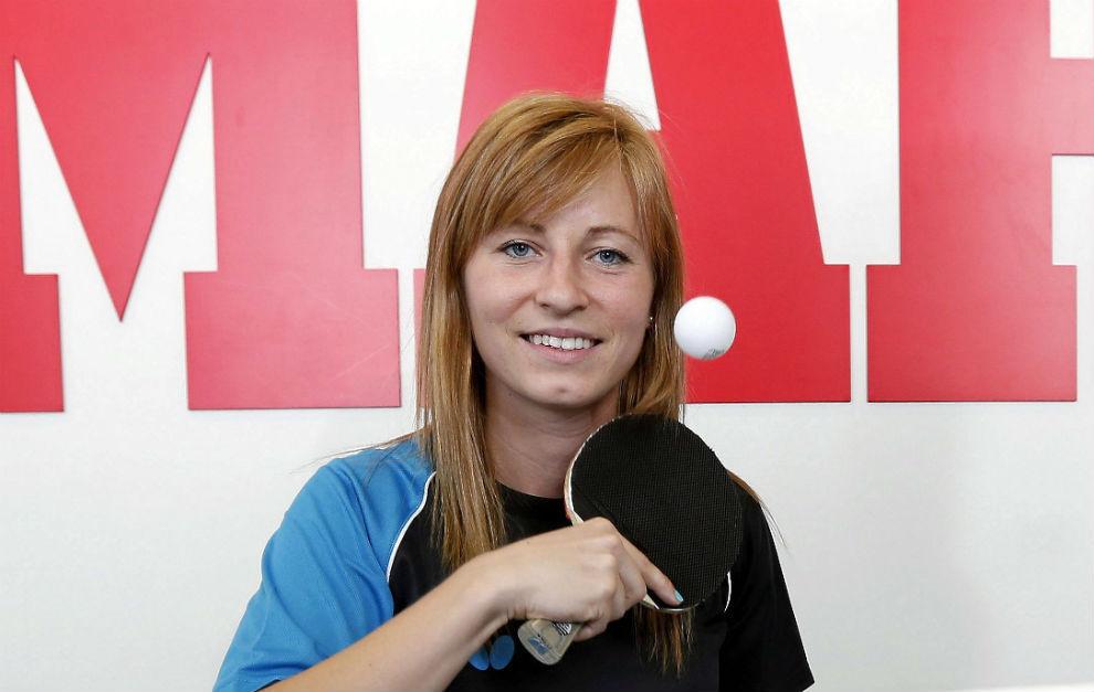 Galia Dvorak, durante una visita a MARCA.