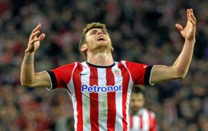 Ibai Gomez, en un partido con el Athletic de Bilbao