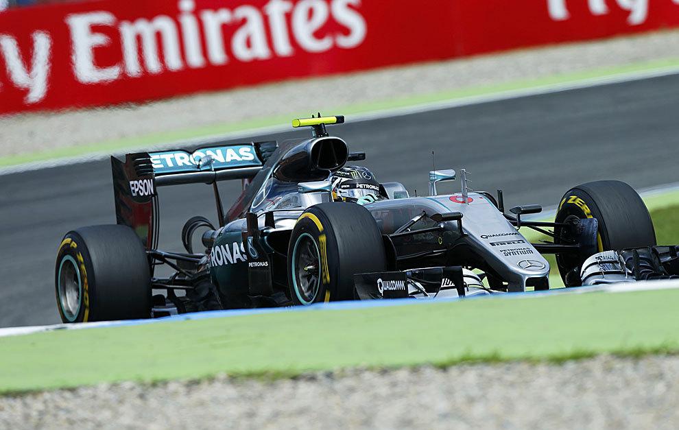 Nico Rosberg logró la pole en Hockenheim