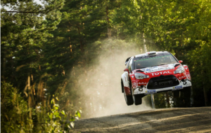 Meeke disputando el Rally de Finlandia este fin de semana