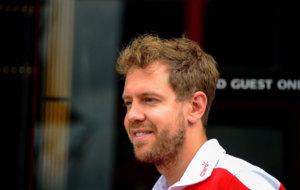 Vettel, en el circuito de Hockenheim