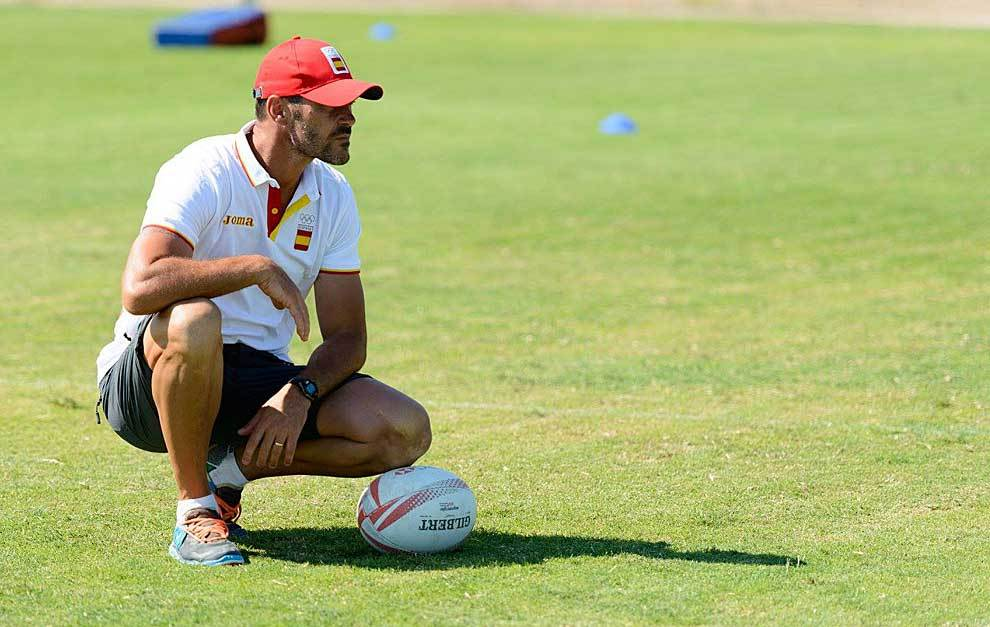 José Ignacio 'Tiki' Inchausti, observando un entrenamiento
