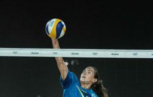 La deportista de voley playa Veronika Orsi Toth