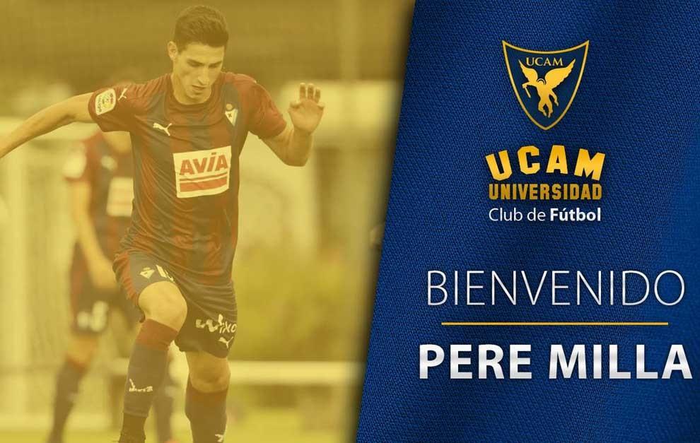 El UCAM anuncia la llegada del delantero Pere Milla.