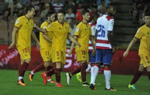 Vietto celebra su gol ante el Granada