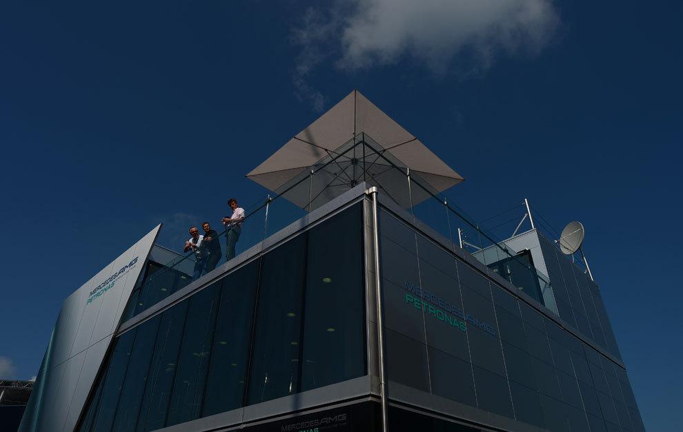 'Motorhome' del equipo Mercedes en Nurburgring, en 2013