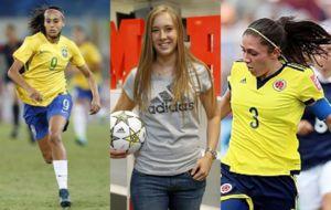 Andressa Alves, Nicole Regnier y Natalia Gait�n.