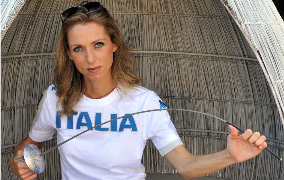 Valentina Vezzali, campeona italiana de esgrima