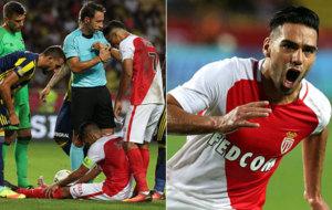 Los momentos de Falcao ante el Fenerbahce: su lesi�n y la...