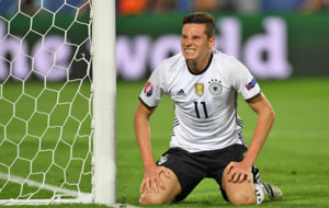 Draxler, en un partido con Alemania durante la Eurocopa de Francia