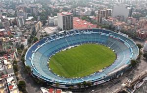 Imagen a�rea del estadio azul, sede hasta ahora de Cruz Azul.
