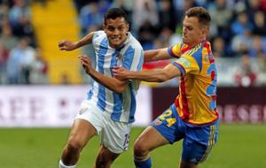 Rosales, en un partido de la temporada pasada con el M�laga.