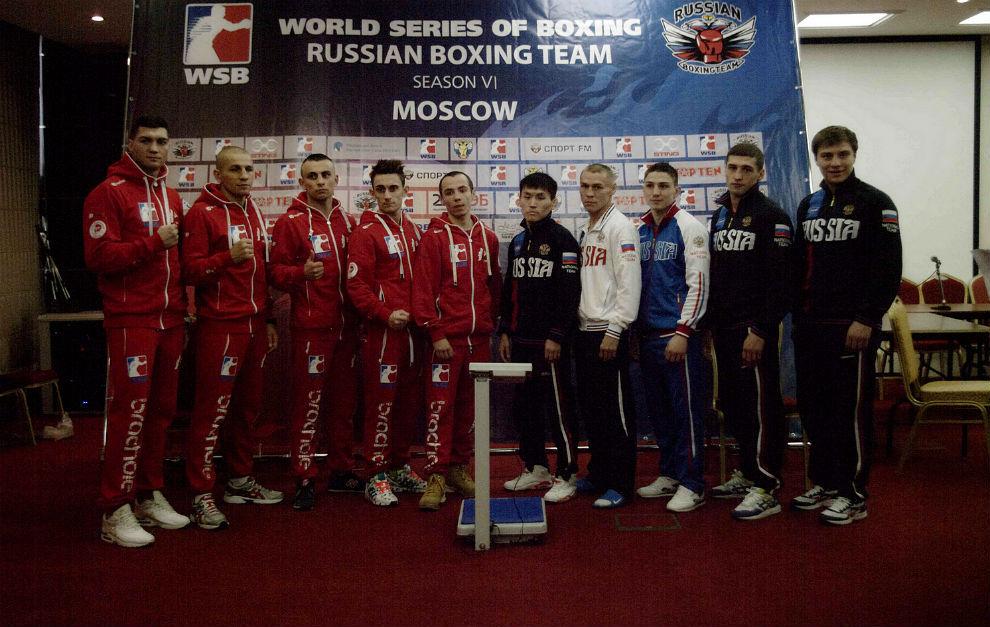 El equipo ruso masculino de boxeo, durante las World Series.