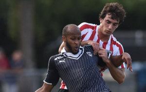 Lekue en un partido amistoso con el Athletic frente al Burdeos