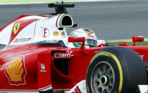 Vettel el pasado fin de semana en el Gran Premio de Alemania