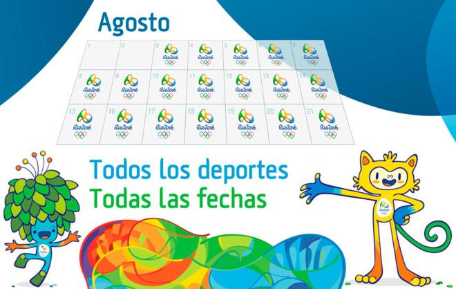 Juegos Olímpicos Río 2016 Calendario Qué Ver Y Cuándo En Los Juegos De Río 2016 Marca Com