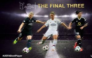 Las tres nominadas a Mejor Jugadora de Europa